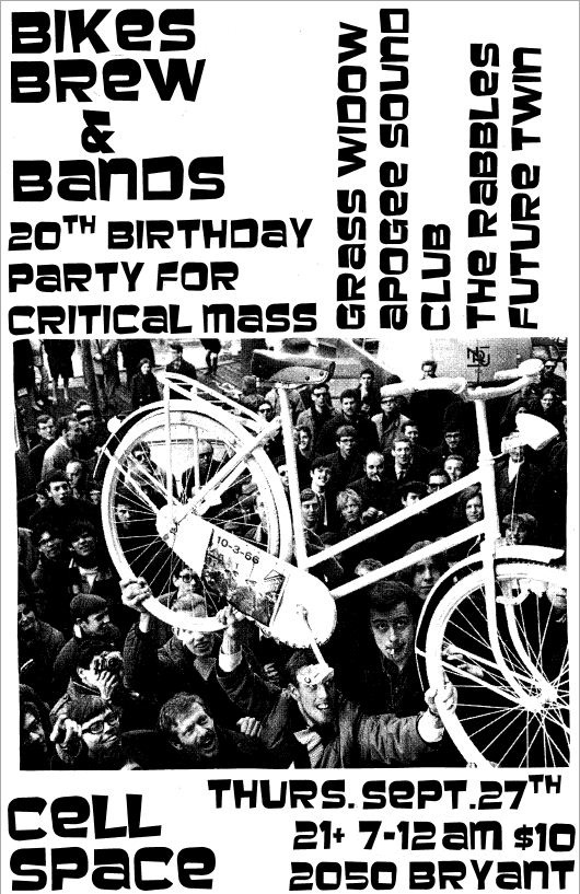Live Show, 4 Great Bands, Critical Mass 20th Birthday Party Thurs. Sept. 26th, 2012